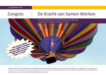 Uitnodiging Digital Groep Congres 2011: De Kracht van