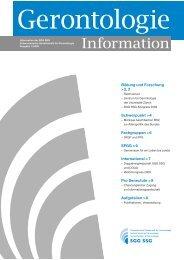 Gerontologie Information 2009-1 (PDF) - SGG-SSG