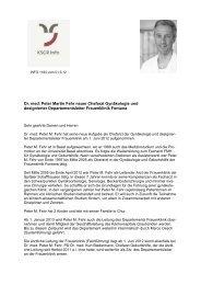Juni 2012 / Arbeitsaufnahme von Dr. med. P. M. Fehr - im ...