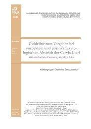 Guideline zum Vorgehen bei suspektem und positivem zyto ... - Info