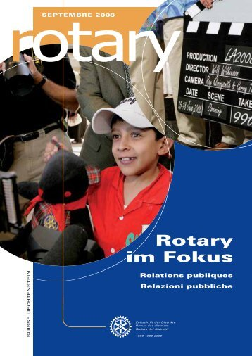 Download Magazin September 2008 (PDF 2,7 MB - Rotary Schweiz