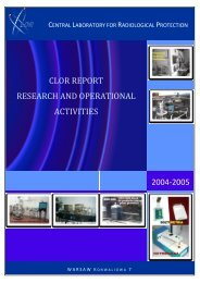 clor report research and operational activities - Centralne ...