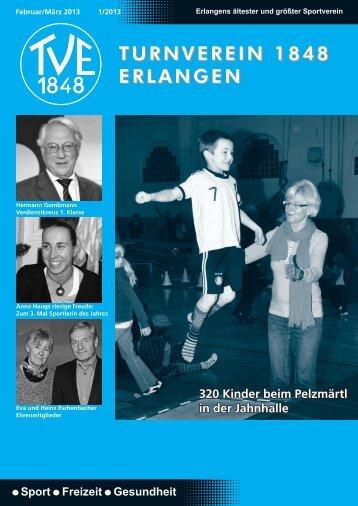 Vereinszeitung 1/2013 - TV1848 Erlangen