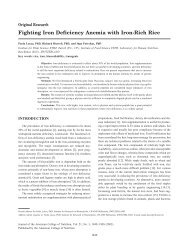Fighting Iron Deficiency Anemia with Iron-Rich Rice - Journal of the ...