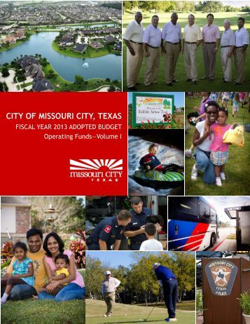 FY 2013 Operating Budget.pdf - Missouri City, TX - Official Website