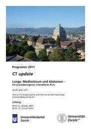 CT update - Fortbildung - UniversitätsSpital Zürich