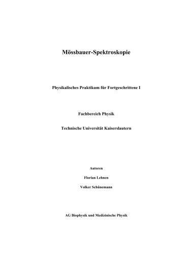 Mössbauer-Spektroskopie - Fachbereich Physik der Universität ...