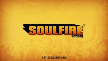 ARTIST ROSTER 2013 - Soulfire Artists