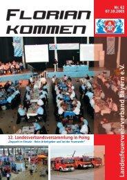 Ausgabe Nummer 62 - Landesfeuerwehrverband Bayern