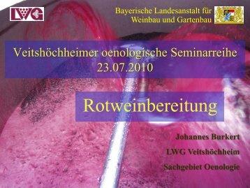 Rotweinbereitung - Bayerische Landesanstalt für Weinbau und ...