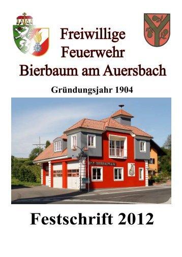 Festschrift 2012 - Gemeinde Bierbaum am Auersbach