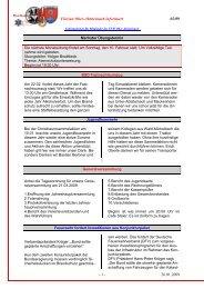 Informationen für Mitglieder der FFW Ober-Abtsteinach