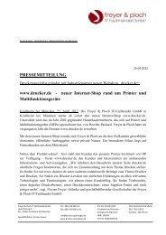 Pressemitteilung zum Start von drucker.de