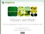 OSS Lernmanagement-System OLAT im kommerziellen Einsatz 13 ...