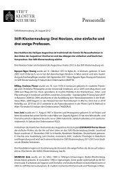 presse-augustini 2012 (pdf, 58.84 KB) - Stift Klosterneuburg