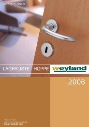 Lagerprogramm weyland 2006.pmd - Weyland GmbH