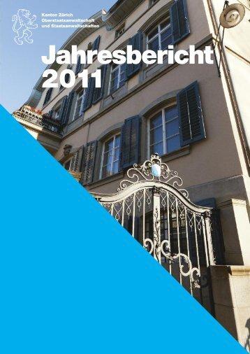 Jahresbericht 2011 - Strafverfolgung Erwachsene - Kanton Zürich