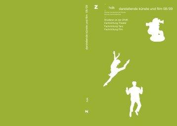 darstellende künste und film 08/09 - Theater der Künste