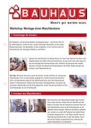 Workshop: Montage eines Waschbeckens - Bauhaus