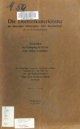Die Dominikanerklöster der ehemaligen Ordensnation