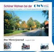 Das Mieterjournal Ausgabe 02/ 2008 - GWV Ketzin