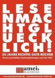30 JAHRE RICHTIG GUTE BÜCHER - ameis Buchecke
