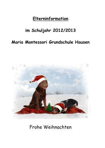 elterninfo maria montessori grundschule hausen - Maria Montessori Lebenslauf