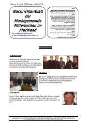 Nachrichtenblatt - Mitterkirchen im Machland