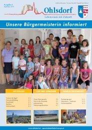 unsere Bürgermeisterin informiert (1,23 MB - Gemeinde Ohlsdorf
