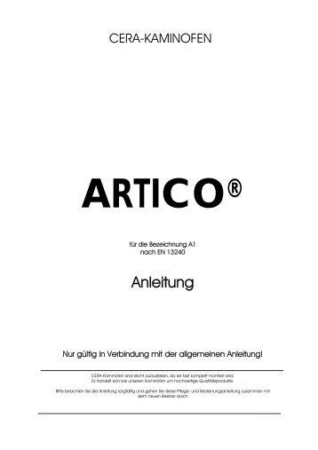 Bedienungsanleitung Artico - Cera