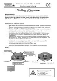 Bedienungsanleitung Winkel-Laser mit Wasserwaage - ELV
