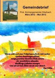 März - Mai 2012 - Protestantisches Dekanat Otterbach
