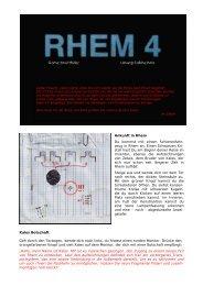 download RHEM 4 Lösung von Sabine Kotz auf