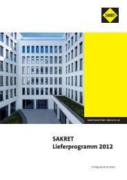 Lieferprogramm SAKRET Bausysteme - Sakret Trockenbaustoffe ...