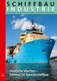 Deutsche Werften – führend im Spezialschiffbau - Schiff & Hafen