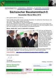 Newsletter März 2012 (*.pdf) - Sächsischer Baustammtisch