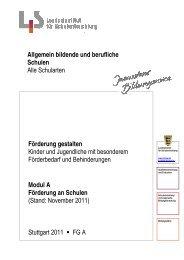 Modul A Förderung an Schulen - Landesbildungsserver Baden ...