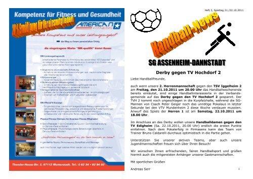 Ausgabe 3 - Wochenende 21. - 22.10.2011 - TB Assenheim