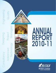 annual report for the financial year 2010-11 - Rites