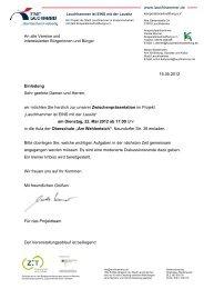 Einladung - Stadt Lauchhammer