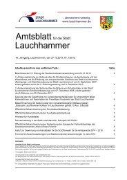 Amtsblatt 07/2012 - Stadt  Lauchhammer