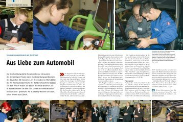 Aus Liebe zum Automobil - Nord-Handwerk