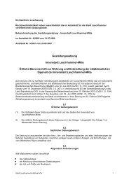 Gestaltungssatzung Innenstadt Lauchhammer-Mitte der Stadt ...