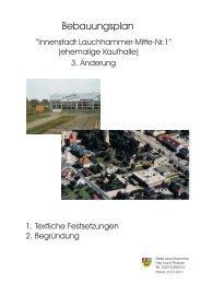 Bebauungsplan - Stadt Lauchhammer