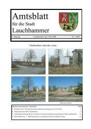 Amtsblatt 01/2004 - Stadt Lauchhammer