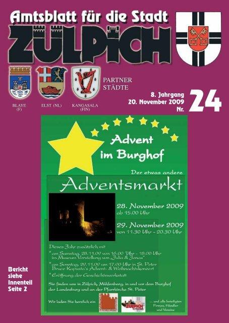 8. Jahrgang 20. November 2009 Nr. PARTNER ... - Stadt Zülpich