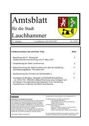 Amtsblatt 02/2007 - Stadt Lauchhammer