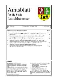 Amtsblatt 06/2010 - Stadt Lauchhammer