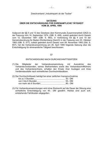 """""""Industriepark ob der Tauber"""" - Satzung über die - Stadt Lauda ..."""