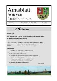 Amtsblatt 05/2004 - Stadt Lauchhammer